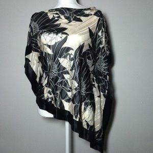 Banana Republic Authentic Silk  asymmetrical Top S